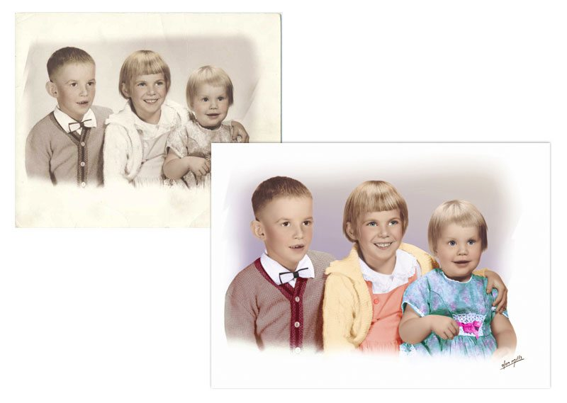 Photo Restoration - Faded Photo