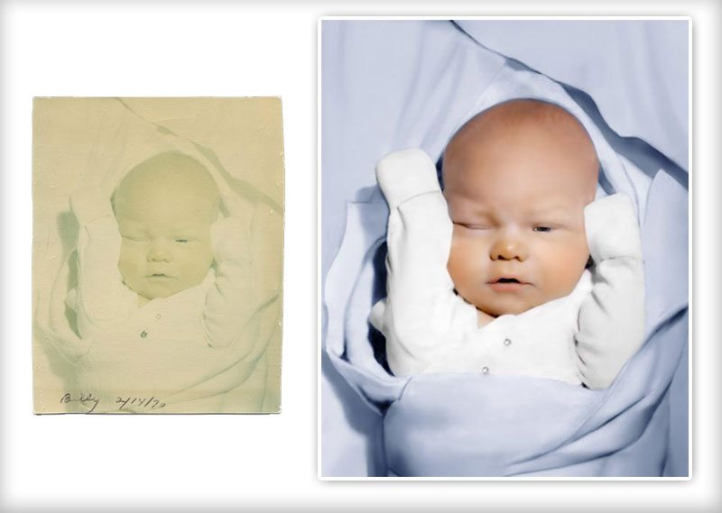Digital Photo Restoration - Repair Severe Fading and Colorize