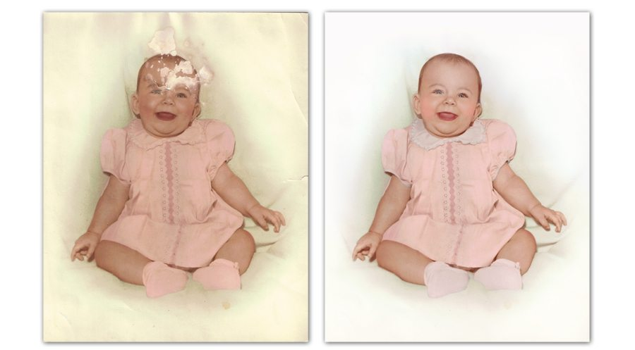 Restored 61 year old faded and damaged photo