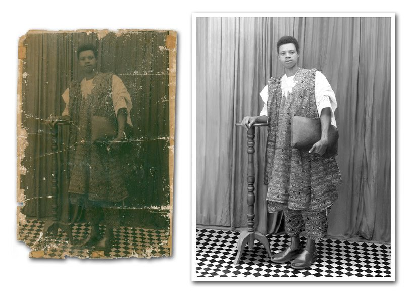 Photo Restoration with extensive damage