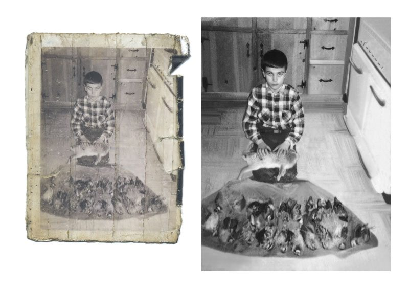 Photo Restoration Extreem damage
