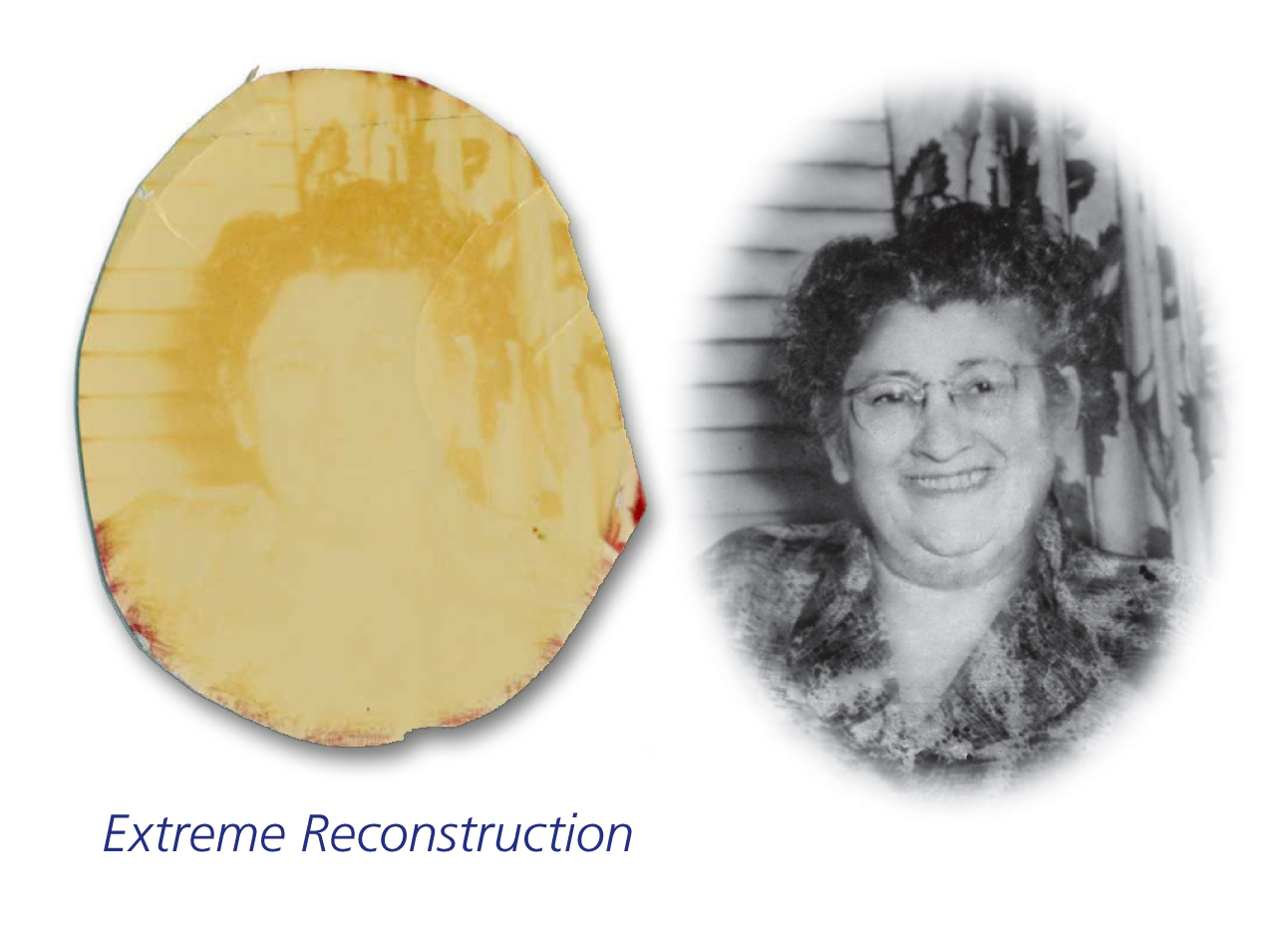 Extreem Restoration Example - Faded Photo