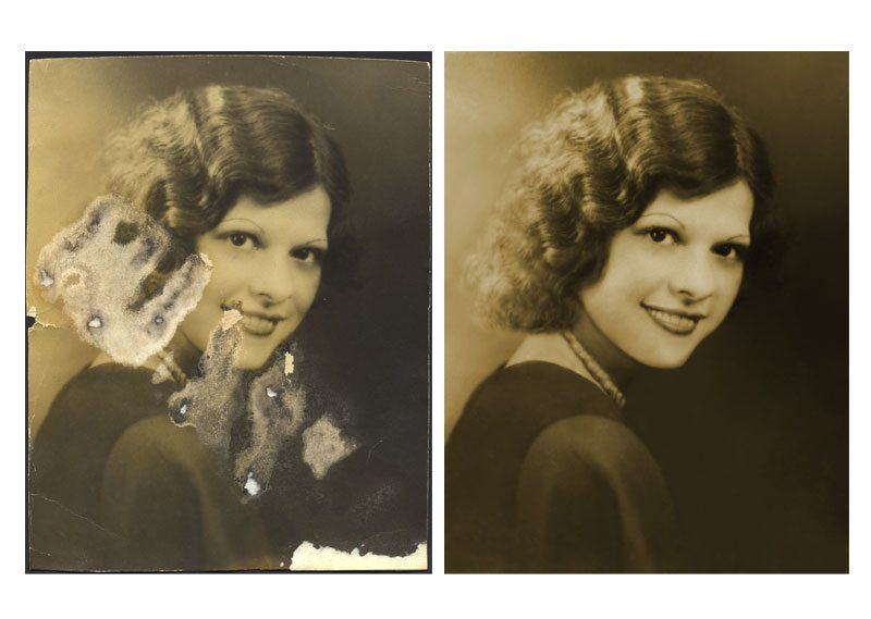 Digital Photo Restoration - Repair water damage