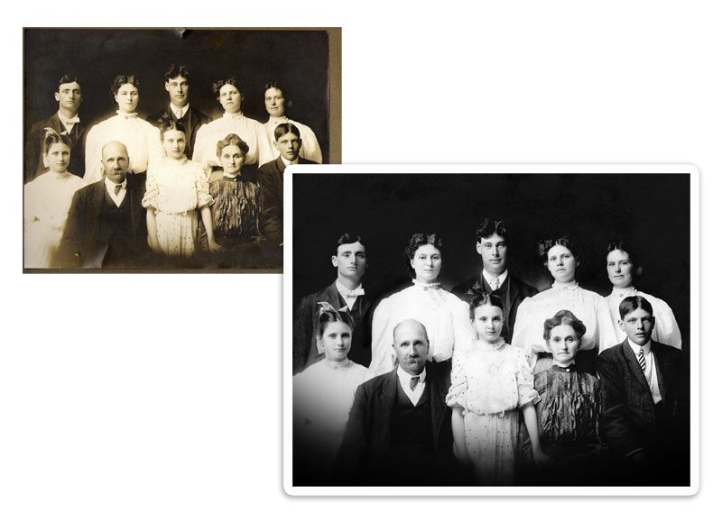 Photo Restoration, Before & After Examples The Photo Restoration Center