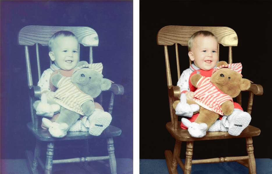 Photo Restoration of Faded Photo