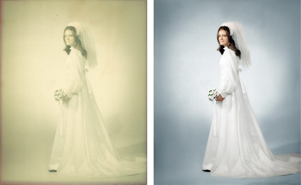 Photo Restoration Fixing Faded Photos