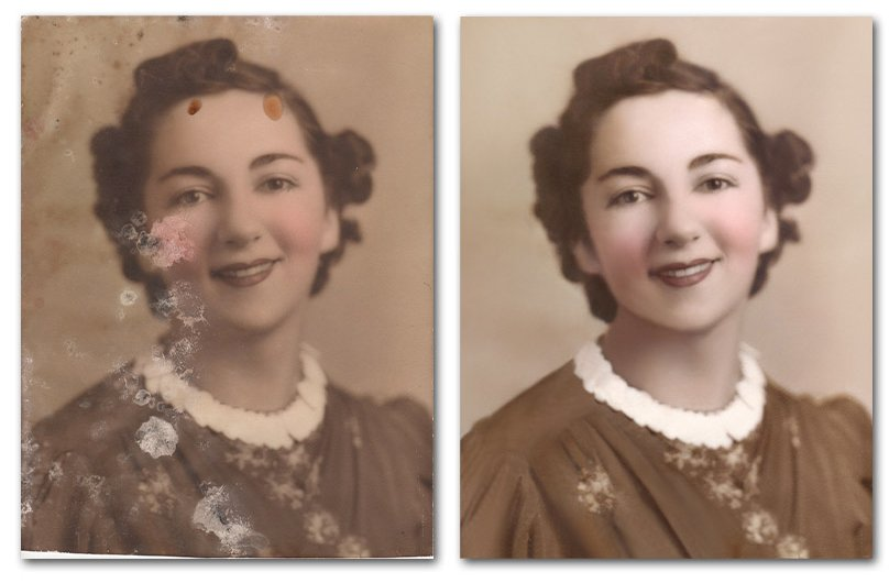 Removing mold from photos
